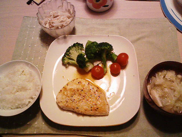 メカジキのソテー生姜酢ソース
